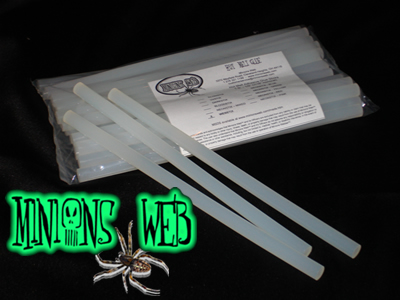 Our fire safe and food safe Clear web stix for simple realistic webs!